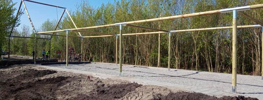 Survivalrunbaan Oosterzee wordt gebouwd